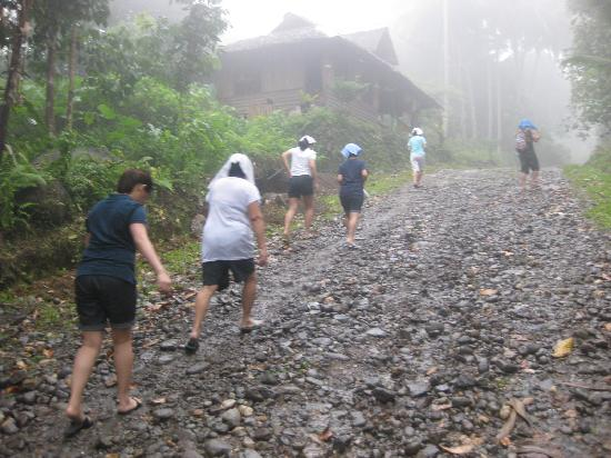 Dumaguete City, Philippines : more or less 1 km rough/rocky road