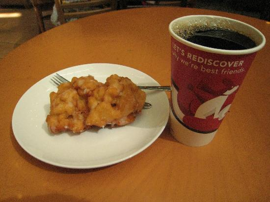 Brewed Coffee And Apple Fritter Picture Of Starbucks New