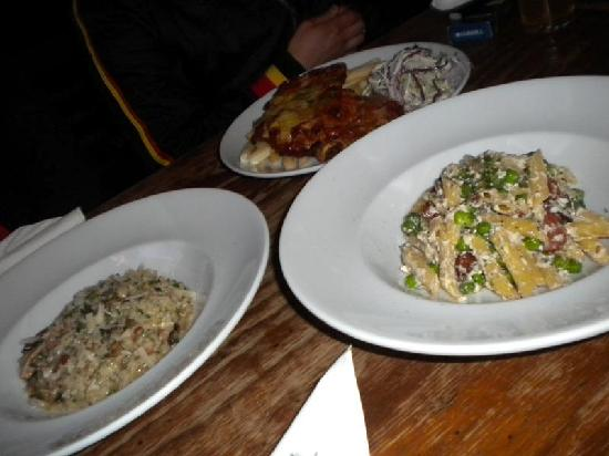 The Lounge: Risotto, chicken parma and penne pasta