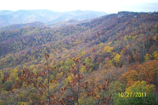 The Blowing Rock: View behind Blowing Rock, NC