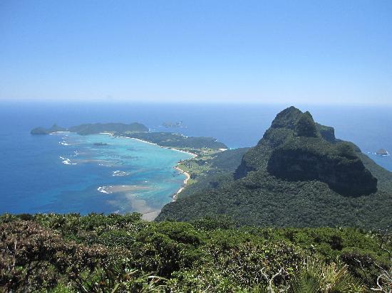 Arajilla Retreat - Lord Howe Island: View from Mt Gower