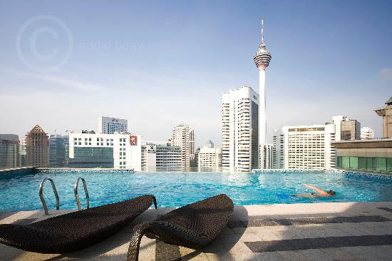 Fraser Place Kuala Lumpur: Splash-Infinity pool with the best KL city view
