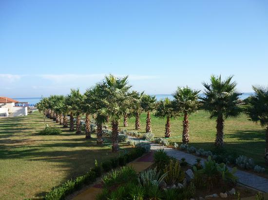 Georgioupolis, Grekland: vue depuis notre balcon