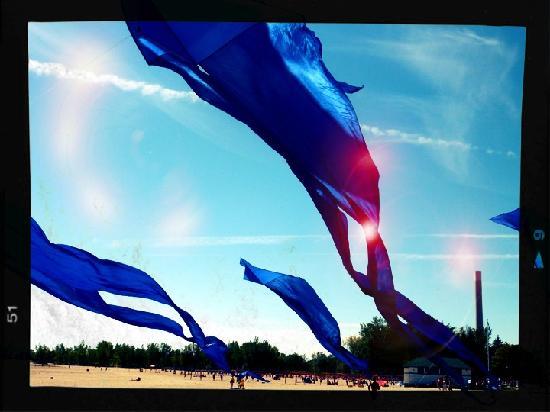 The Beach Village: Drachen in Blau