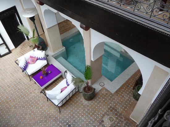 Dar Charkia: looking down on the courtyard