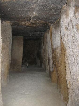 Dolmen de Menga: Inside one of the tombs.