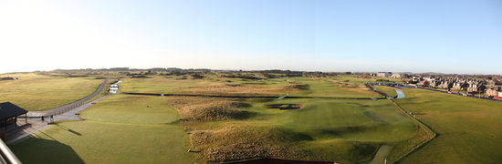 Carnoustie, UK: View from the Hogan Suite