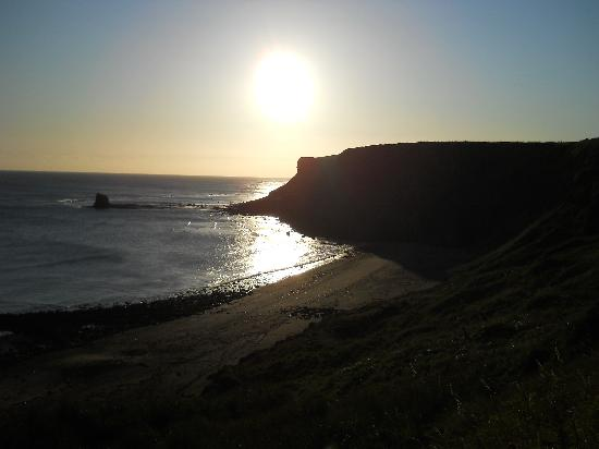 Whitby Holiday Park: Early morning on beach below the Caravan Park
