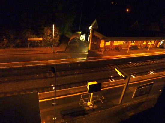 Holiday Inn Express Cambridge Duxford M11 Jct 10: View From Room Window to Station Below - A Marvel for Trainspotters