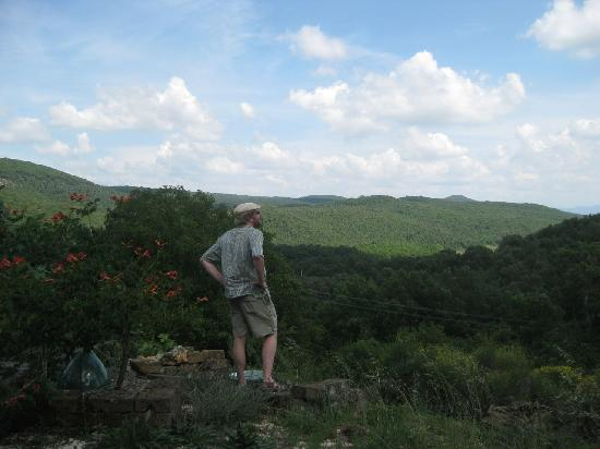 Poggio le Stalle: Enjoying the view from the top of the garden.