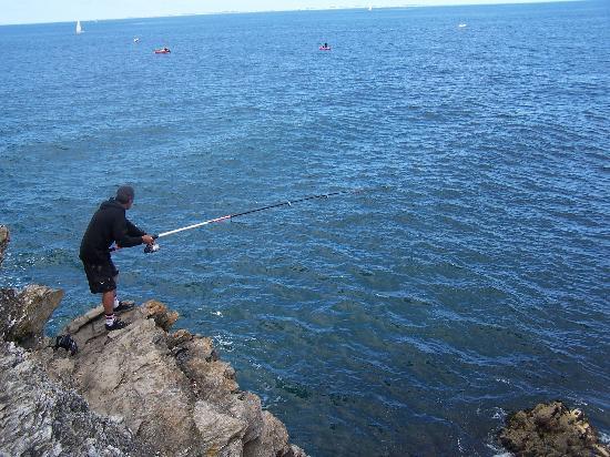 Belle-Ile-en-Mer, Frankrijk: Pêche à la pointe de Kerzo