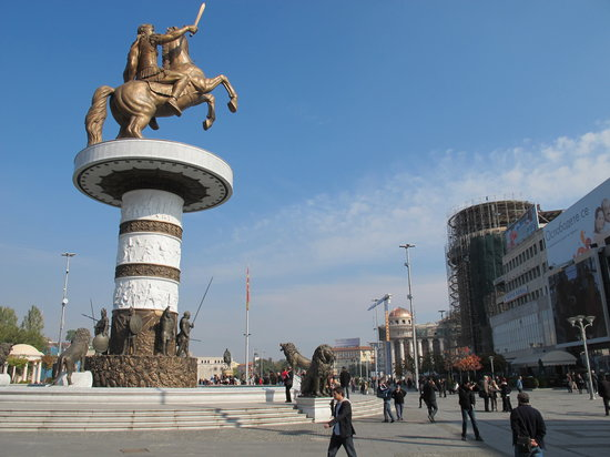Skopje, Republic of Macedonia: Macedonia Square