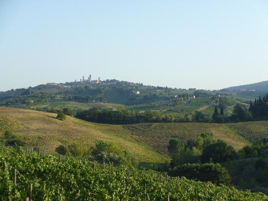 Tenuta Mormoraia: the view - San Gimignano