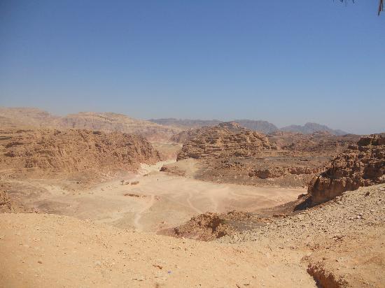 Sinai Safari Adventures : Vue désert et Colored Canyon au loin
