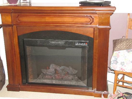 5 Corners Bed & Breakfast: The fireplace heater in our room was very nice.