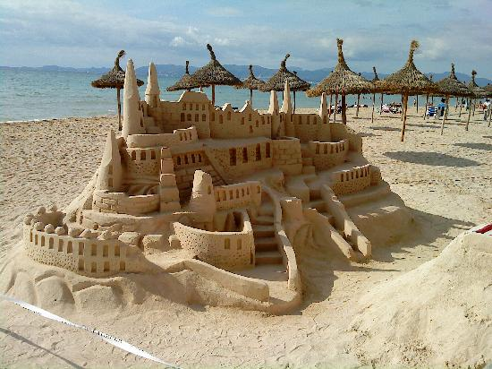Sandburg am strand fotograf a de playa de palma mallorca - Fotografia palma de mallorca ...