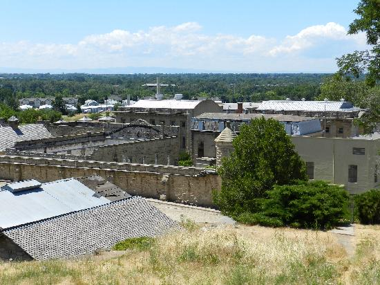 Boise, ID: A view from the hills above looking toward Old Idaho Penitentiary