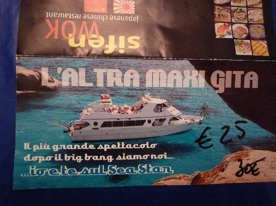 Navetta Sea Star : il depliant