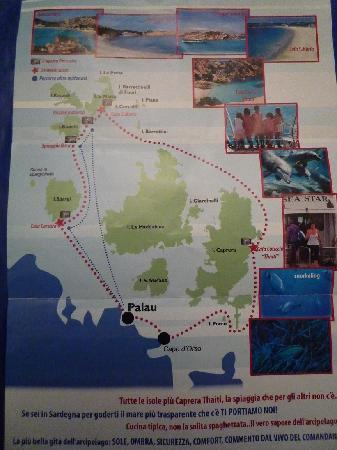 M/N Sea Star - Boat Tour Archipelago of La Maddalena : il percorso