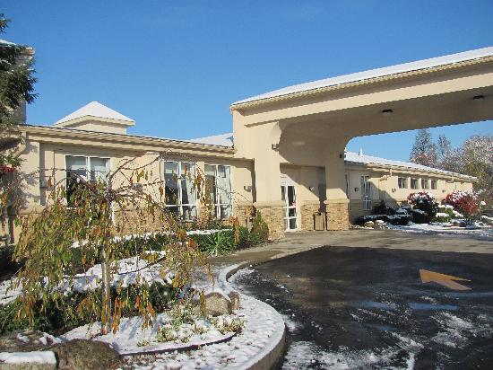 Comfort Inn Albany / Glenmont: two story motel, but front entrance pic