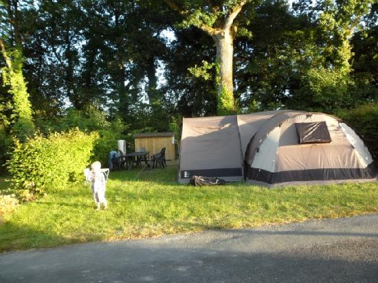 La Garangeoire: our pitch (with an 8 berth tent and porch)