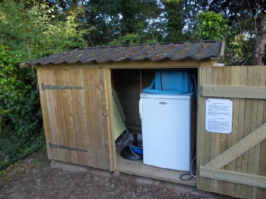 La Garangeoire: The fridge/bbq etc cupboard on our pitch