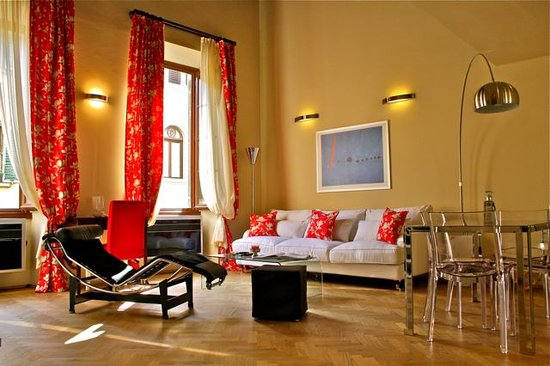 A Suite in Florence: Main Living Area Loft del Principe