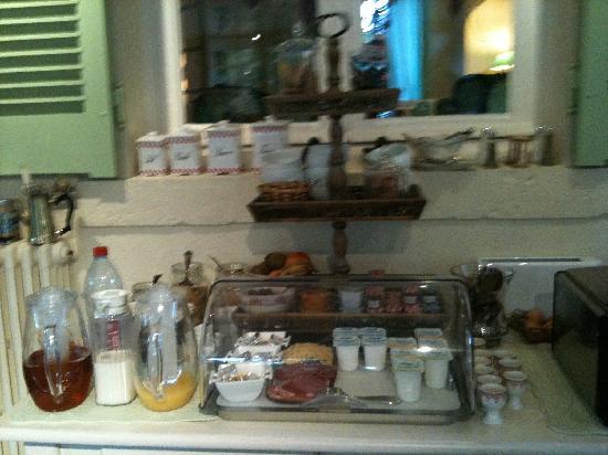 Villa Marjane: Le buffet très complet