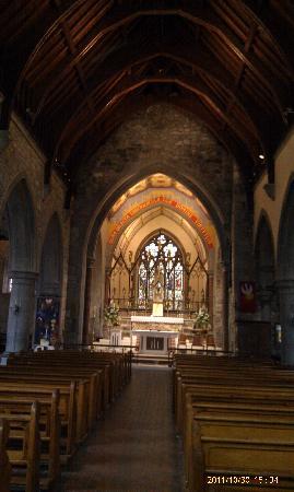 Holy Trinity Abbey Church: Back of church to altar