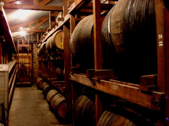 Madera Wine Trail: Ficklin Vineyards' Barrel Room