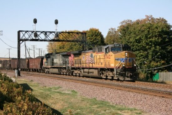 Rochelle, IL: Eastbound Union Pacific Coal Train