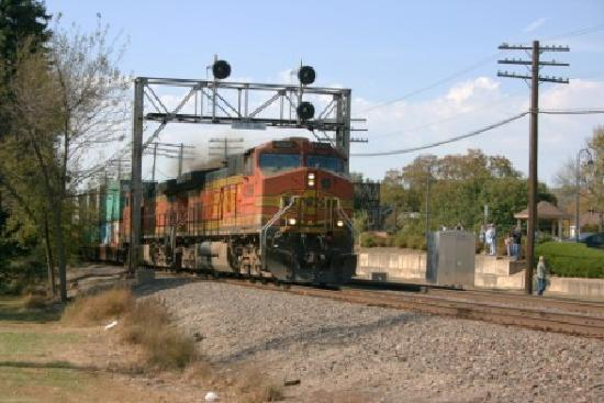 Eastbound BNSF Double Stack Train - Picture of Rochelle Railroad