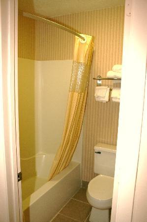 Days Inn Richmond: Bathroom, note chiped toilet