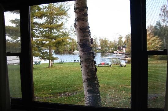 Chalet Moosehead Lakefront Motel: view from the window - room #5