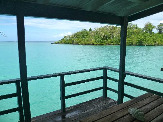 Lusia's Lagoon Chalets: The view from our deck