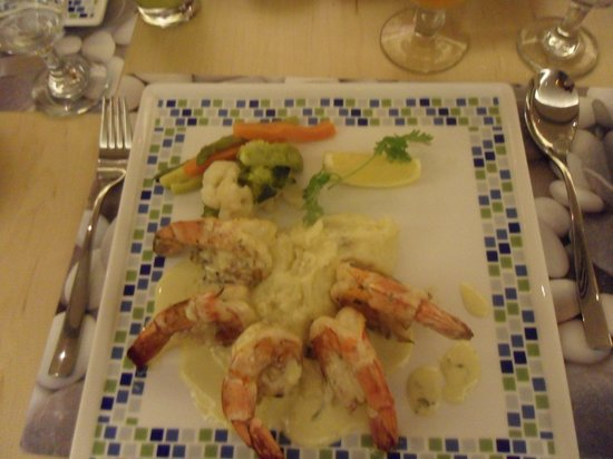 The Village: Gulf shrimp meal