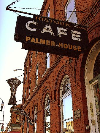 Palmer House Hotel: Cafe sign.