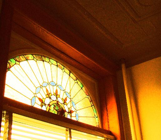 Palmer House Hotel: Original stained glass.