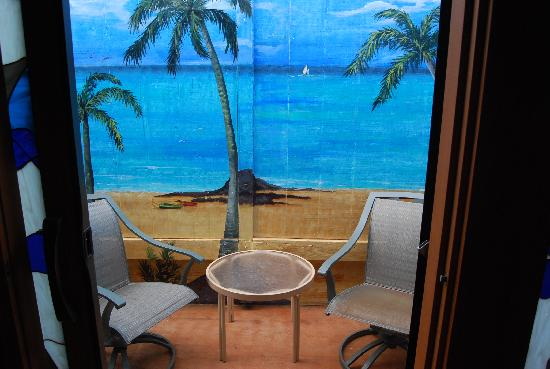 "Maui Guest House: ""beach front view"" from patio.... but i wanted the real thing..."
