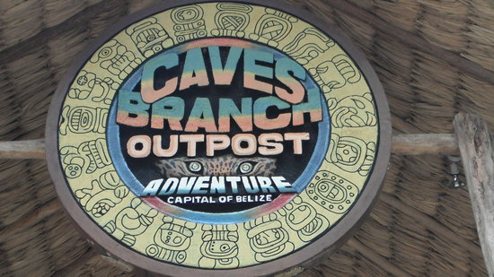 Caves Branch Outpost : Entrance sign to the Cave Tubing