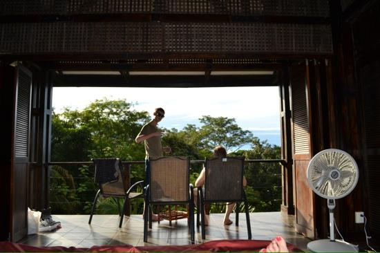 TikiVillas Rainforest Lodge: view from the room