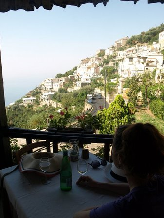 Cooking Vacations Italy: The view from the restaurant - where we sat with sparkling water before our class began....