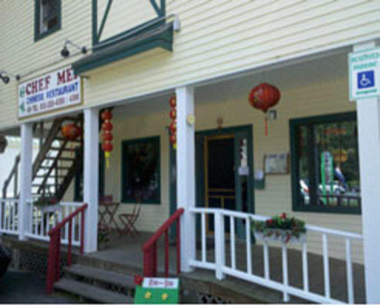 Chef Mei Chinese Restaurant : Chef Mei on Vermont Route 103 at the lower end of Ludlow Village