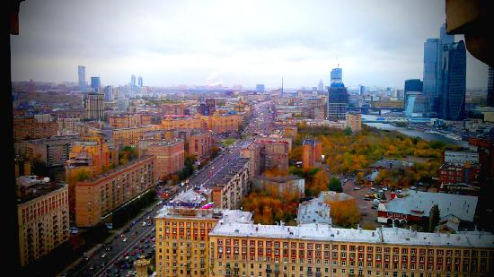 Radisson Royal Hotel Moscow: My room with a view on Moscow City business area