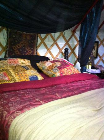 Sopley Lake Yurt Camp : Cosy bed..great sleep!!
