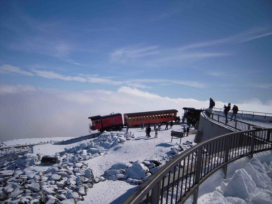 The Mount Washington Cog Railway: View from the Observatory