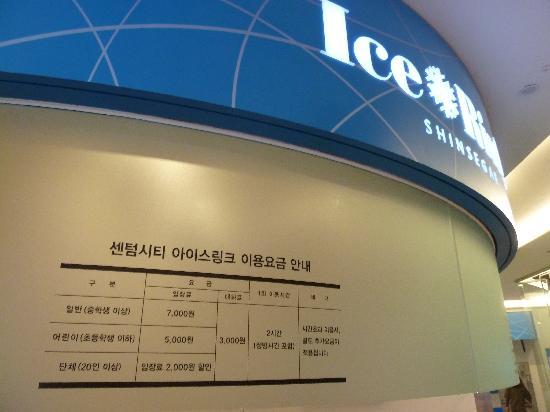 Shinsegae Centum City Spaland: Eislaufplatz im 4. Flur