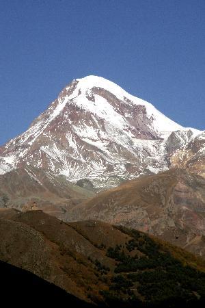 Mount Kazbek on a shiny day