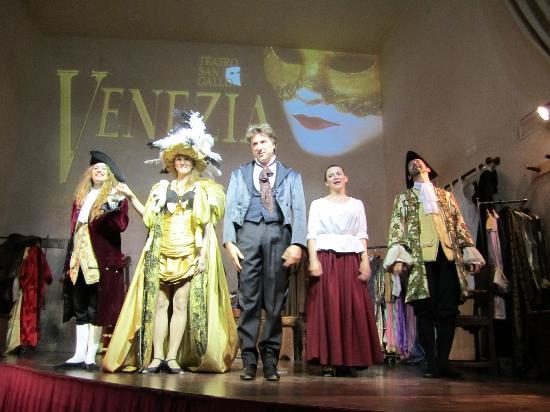 Teatro San Gallo : The cast of Venezia