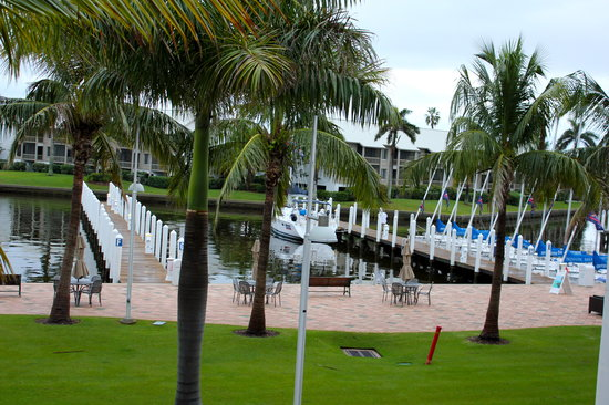 South Seas Island Resort : View from our balcony - the marina
